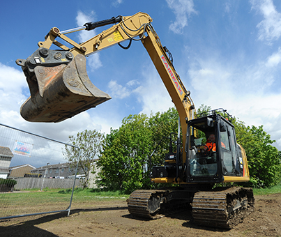 large plan, excavator hire in northern england