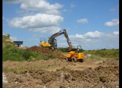 Fairfax Plant Hire In Action on new Leeds development